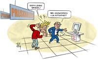 Cartoons door alex van koten eerste pagina - Zinkt de verkoop ...